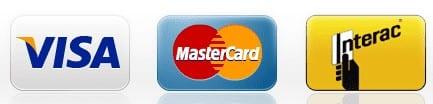 Payment Methods: Visa, Mastercard, Interac